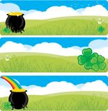 Pot of gold banners Stock Image