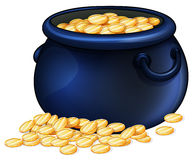 A pot of gold coins Stock Photos