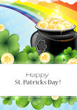 Pot of gold coins Royalty Free Stock Photography