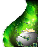 Pot with gold coins.  Leprechaun treasure Royalty Free Stock Photography