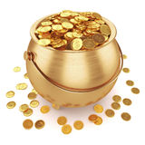 Pot of gold coins Royalty Free Stock Photo