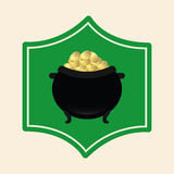 Pot gold Stock Image