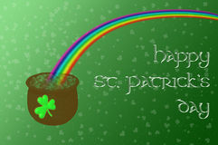 A pot of gold at the end of the rainbow vector illustration