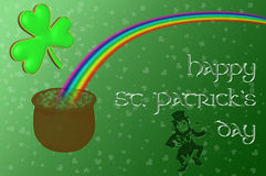 A pot of gold at the end of the rainbow royalty free illustration