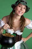 Pot of Gold Girl Stock Photography