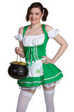 Pot of Gold Girl Stock Images