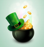 Pot Of Gold and Green Hat Stock Photos