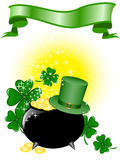 Pot of gold and a hat Stock Image