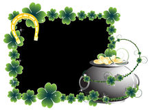 Pot of gold and horseshoe Royalty Free Stock Photo