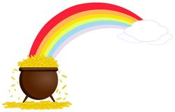 Pot with gold Royalty Free Stock Photography