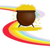 Pot with gold Stock Photos