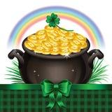 Pot Of Gold, Magical Treasure, St. Patrick's Day symbol. Vector Stock Photography