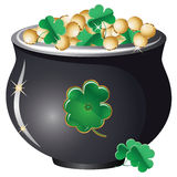 Pot of gold Royalty Free Stock Photo