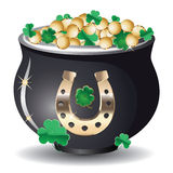 Pot of gold Royalty Free Stock Images