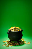 Pot of Gold: Overflowing Treasure Pot Royalty Free Stock Photography