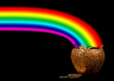 Pot of Gold in a rainbow Royalty Free Stock Photography