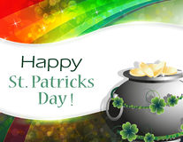 Pot of gold on rainbow background Royalty Free Stock Photo