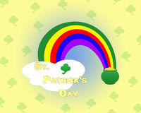Pot of Gold with Rainbow and Cloud Stock Images