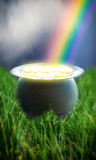 Pot of Gold Rainbow Royalty Free Stock Images