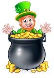 Pot of Gold Saint Patricks Day Leprechaun Royalty Free Stock Photo