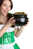 Pot of Gold Woman Royalty Free Stock Photo
