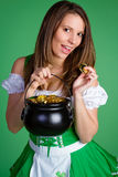 Pot of Gold Woman Royalty Free Stock Photos