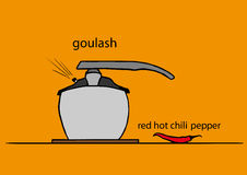 Pot of goulash Stock Image