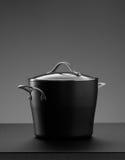 The pot on grey Stock Photos