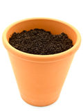 Pot with ground Stock Image