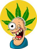 Pot Head. This is an image of a person after using marijuana.  Just say, No Stock Images