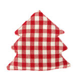 Pot holder lovely red and white shaped as conifer Stock Photo
