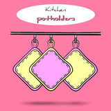 Pot holders Vector Royalty Free Stock Images