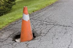 Pot hole Stock Image