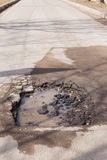 Pot hole Royalty Free Stock Photography