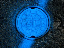 Pot Hole Cover for Water. Water Pot Hole cover taken in downtown Providence, Rhode Island Royalty Free Stock Photos