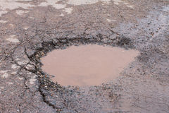 Pot Hole Full of Water Royalty Free Stock Photography