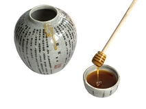 Pot of honey Royalty Free Stock Images