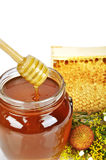 Pot of honey Royalty Free Stock Image