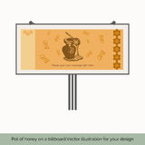 Pot of honey on a billboard Royalty Free Stock Photography