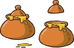 Pot of honey Stock Photos