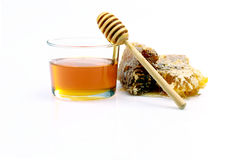 Pot of honey Stock Image