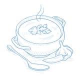 Pot of hot soup. Stock Photography