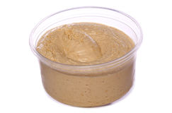 Pot of hummus cutout Royalty Free Stock Photo