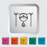 Pot icon. Pot outline icon on the button. Vector illustration Royalty Free Stock Photo