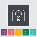 Pot icon. Pot outline icon on the button. Vector illustration Royalty Free Stock Photography
