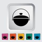 Pot icon. Pot. Single flat icon on the button. Vector illustration Royalty Free Stock Photo