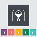 Pot icon. Pot. Single flat icon on the button. Vector illustration Stock Photography