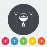 Pot icon. Pot. Single flat icon on the circle button. Vector illustration Royalty Free Stock Photography