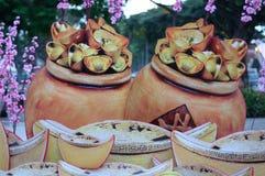 Pot Of Ingot Decoration Stock Photo