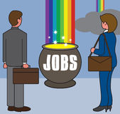 Pot of Jobs Stock Photos
